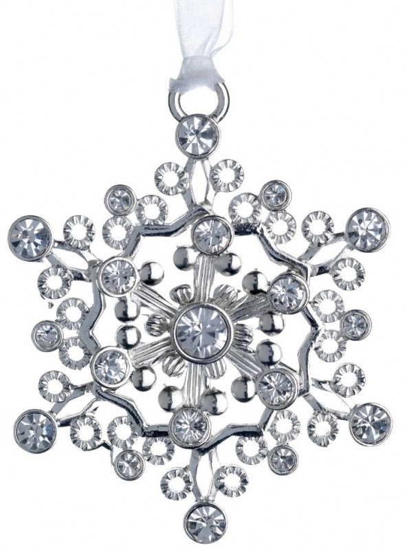 Jeweled Snowflake Ornament with Swarovski Crystal Elements