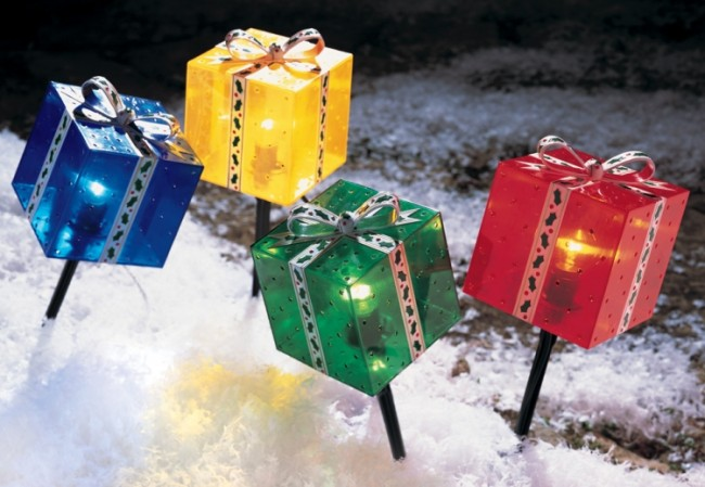 Lighted Outdoor Gift Stakes