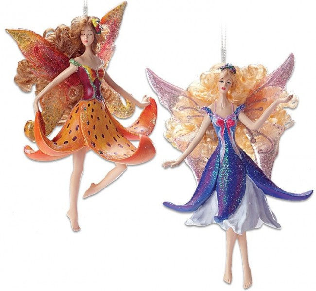 Lily andArabela Clematis Fairy Ornament
