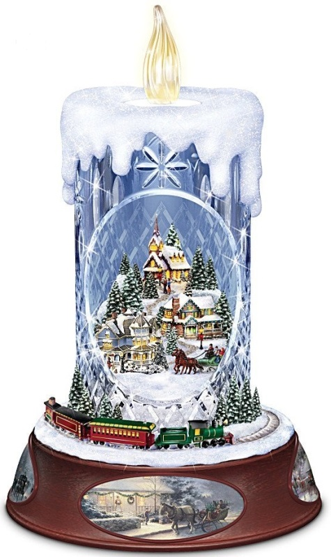 Musical Tabletop Centerpiece Crystal Candle