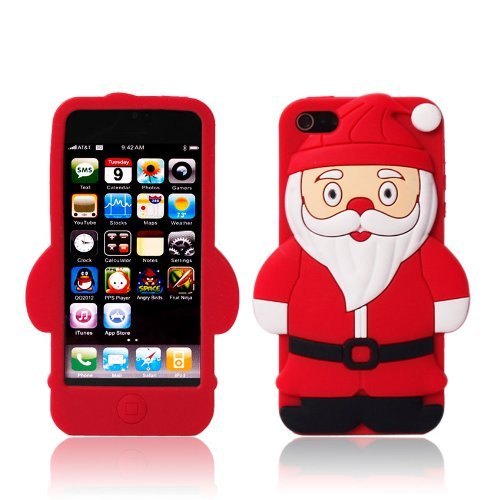 Santa Claus Christmas Soft Silicone Case Cover for Apple iPhone 5 5S