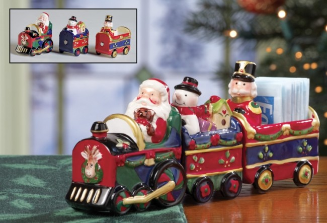 Santa Train Christmas Salt and Pepper Set