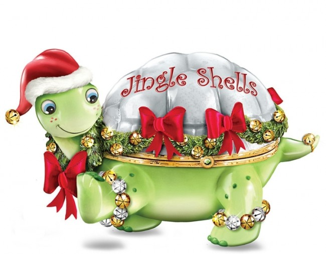 The Jingle Shells Turtle Holiday Music Box