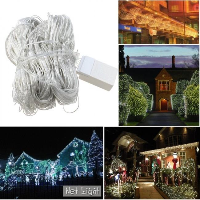 300 LED Warm White Net Mesh Outdoor Fairy String Lights