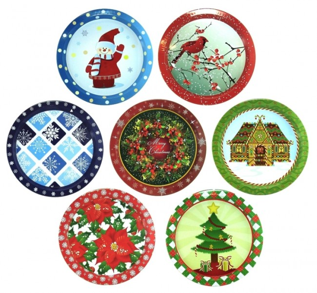 Assorted Christmas Holiday Cookie Plates
