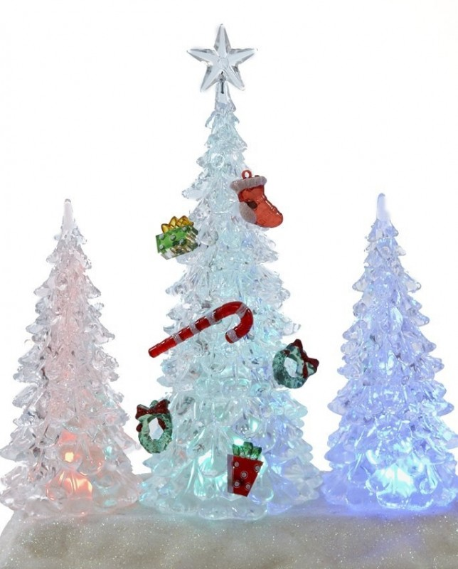 Battery-Operated Color-Changing LED Tree Table Piece