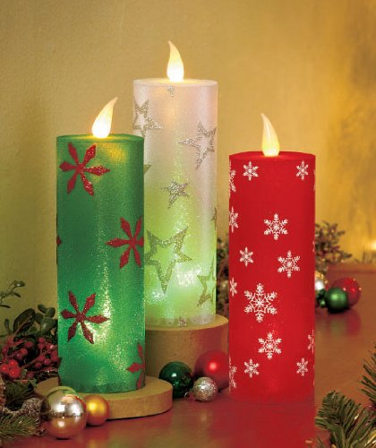 Candle Pillar Flickering LED Light