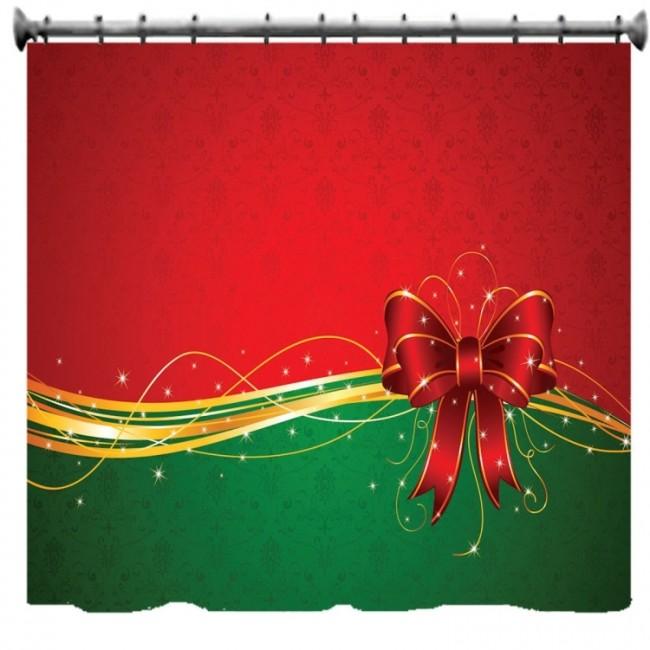 Christmas Bow Shower Curtain