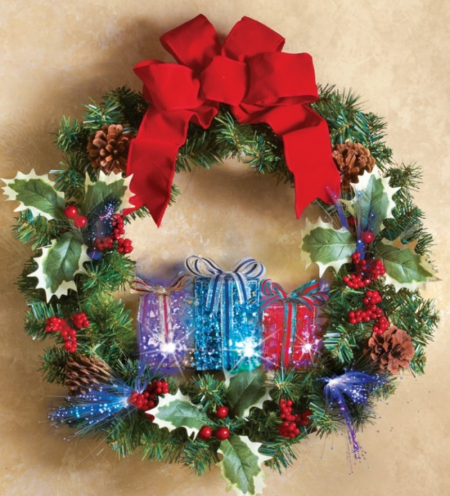 Christmas Gift Box Wreath Holiday Decoration