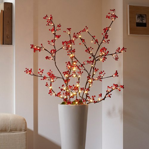 Cordless Pre-lit Berry Branches