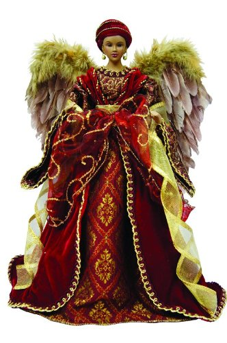 Diva Angel Christmas Tree Topper with Feathers