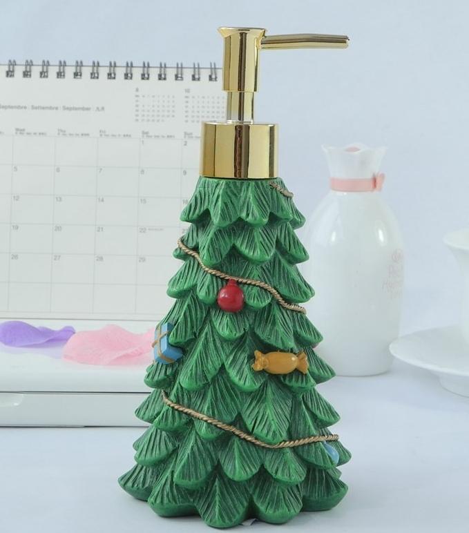 Dream Bath Christmas Tree Soap Dispenser Lotion Dispenser