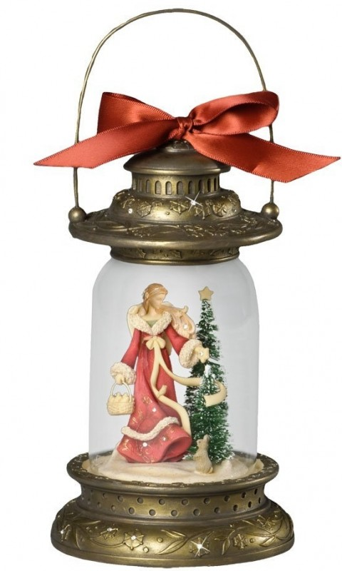Enesco Heart of Christmas Angel Light from Gregg Gifted Lantern