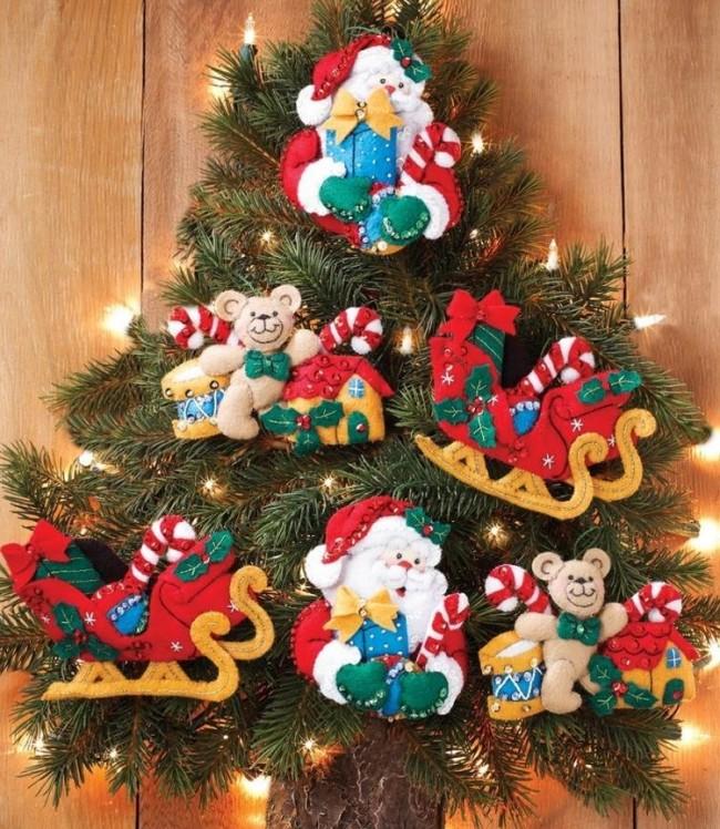 Felt Applique Ornaments Kit