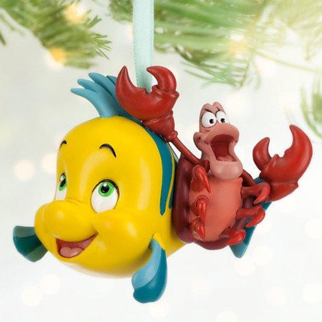 Flounder and Sebastian Sketchbook Ornament