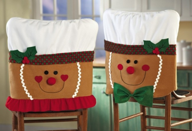 Dining Room Chair Covers For Christmas gingerbread holiday dining room chair covers – christmas