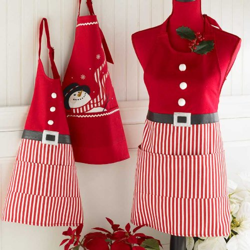Holiday Candy Stripe Santa Apron