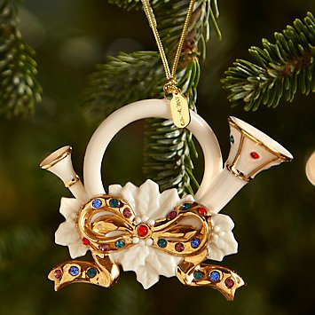 Holiday Gems French Horn Ornament