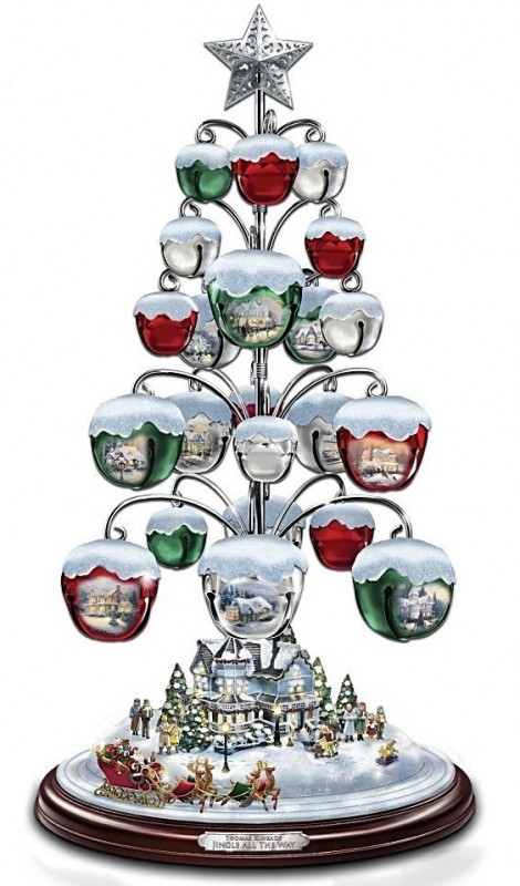 Jingle All The Way Bell Ornament Tabletop Christmas