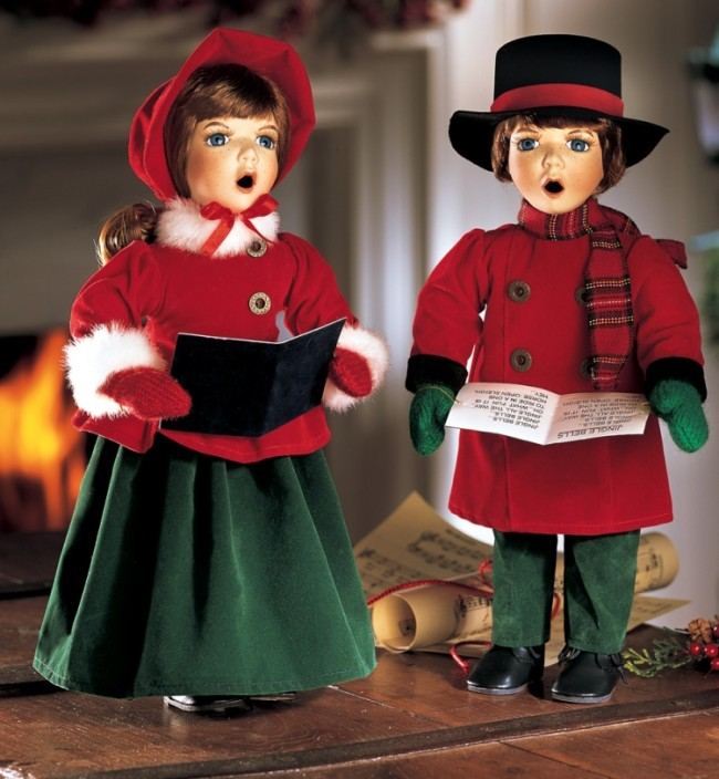 Joy and Noel Holiday Caroler Dolls