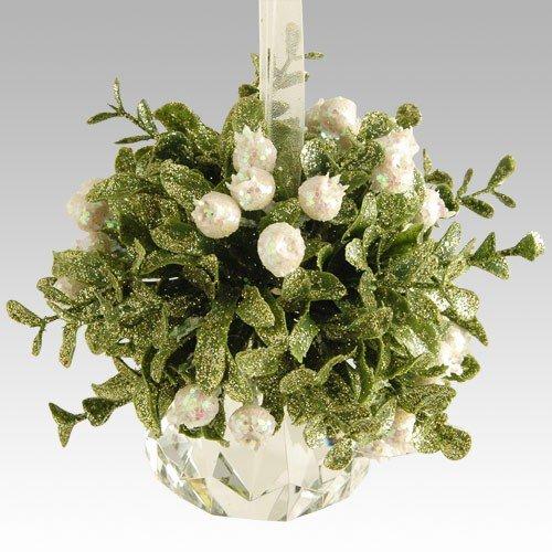 Kissing Krystal Mistletoe Ornament