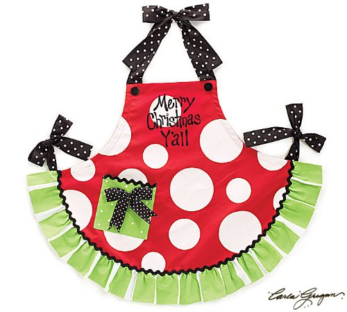 Merry Christmas  Adult Hostess Apron