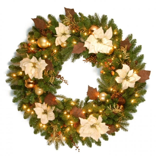 Nature Pre-Lit Christmas Wreath