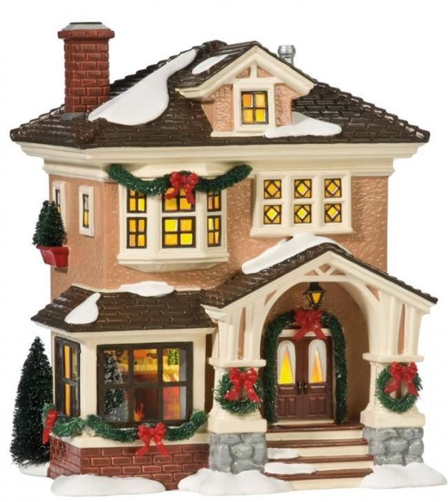 Original Snow Village Christmas At Grandmas Lit House