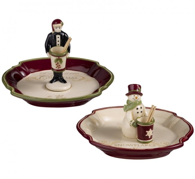 Road Deck the Halls Olive Tray with Toothpick Holder