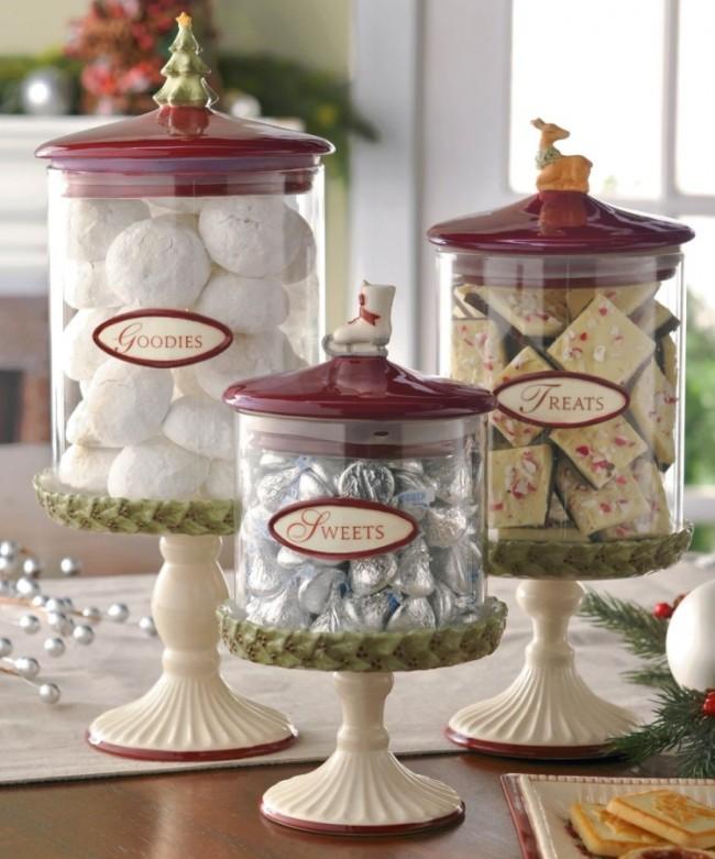 Road Deck the Halls Pedestal Canisters