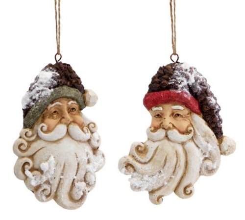 Santa Claus Head Christmas Ornaments