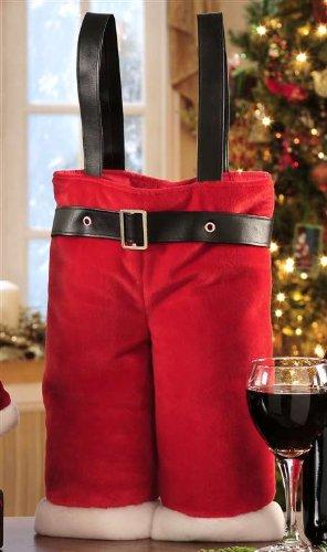 Santa Pants Wine Bag