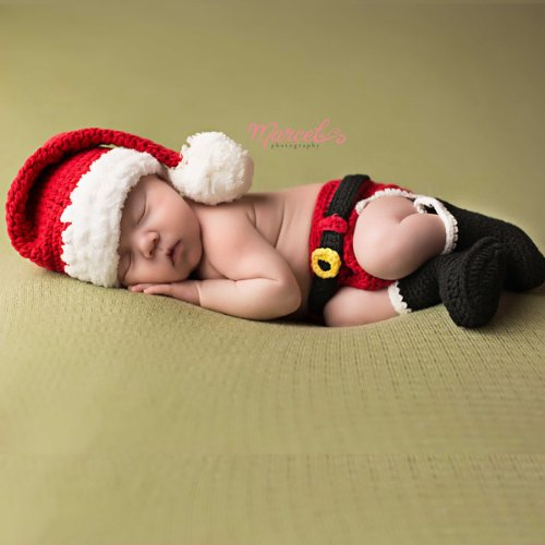 Santas Little Helper Christmas Baby Hat