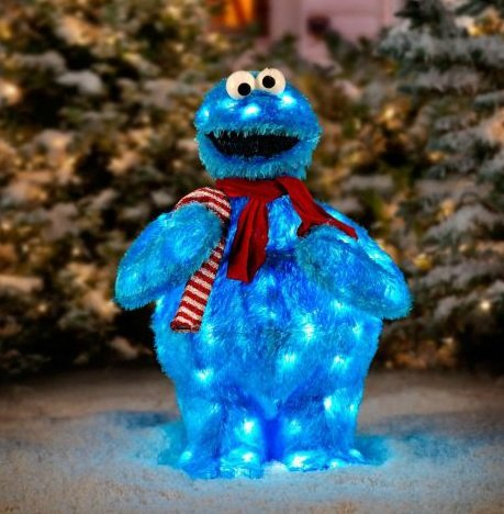 Sesame Street Cookie Monster Christmas Yard Art