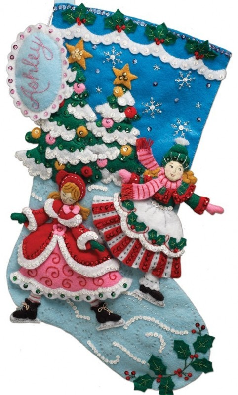 Skaters Stocking Felt Applique Kit