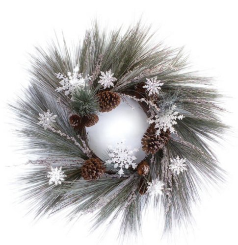 Snowflake and Pine Cone Christmas Wreaths