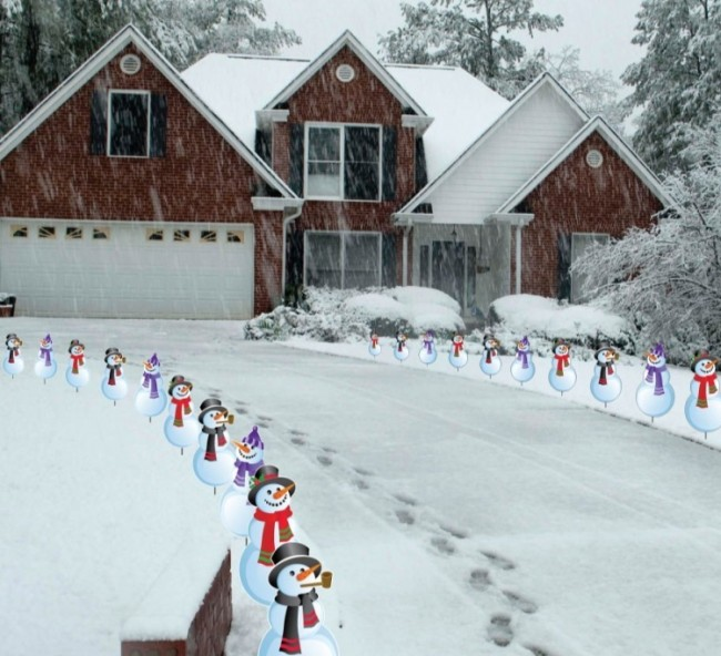Snowmen Christmas Pathway Markers