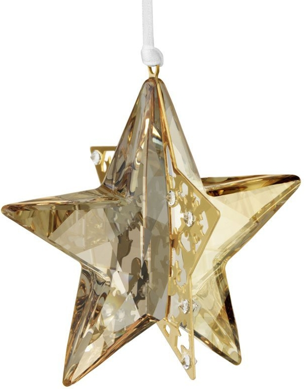 Swarovski Crystal Golden Shadow Christmas Ornament Star