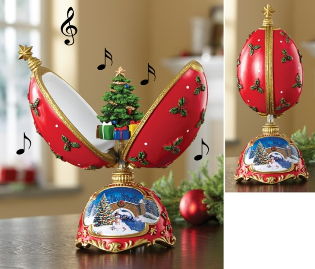 Tree Musical Egg Figurine