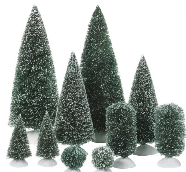 Village Collections Bag-O-Frosted Topiaries Tree