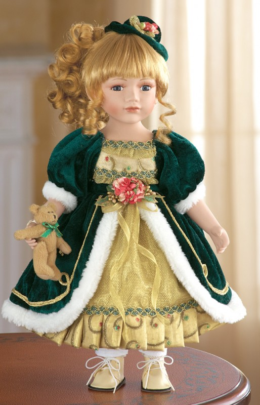 Vivian Holiday Porcelain Collectible Doll