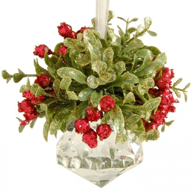 hristmas Mistletoe on Acrylic Prism Ornament