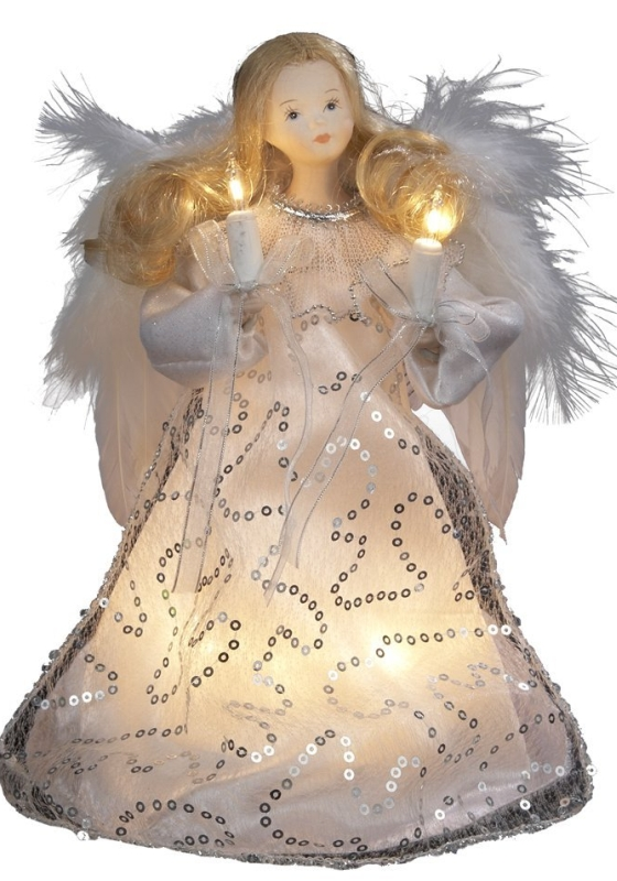 10-Light Angel Christmas Treetop Figurine