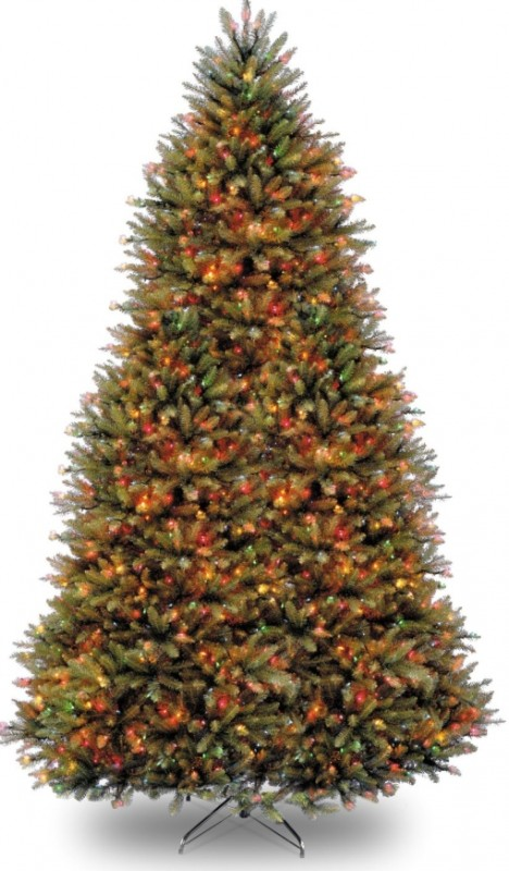 9-Feet Dunhill Fir Tree with 900 Multicolor Lights