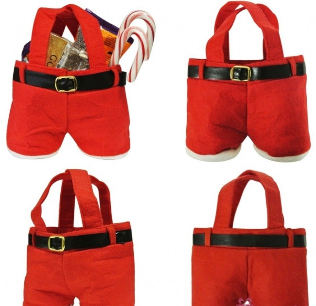Christmas Santa Pants Gift and Candy Treats Bag