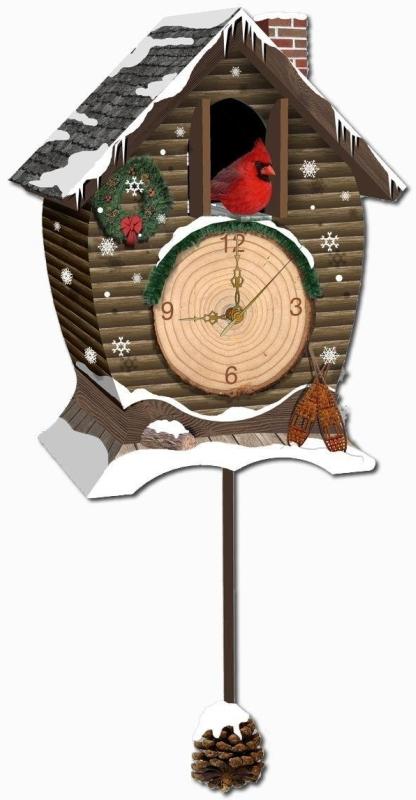 Cuckoo Clock Snowy Cabin