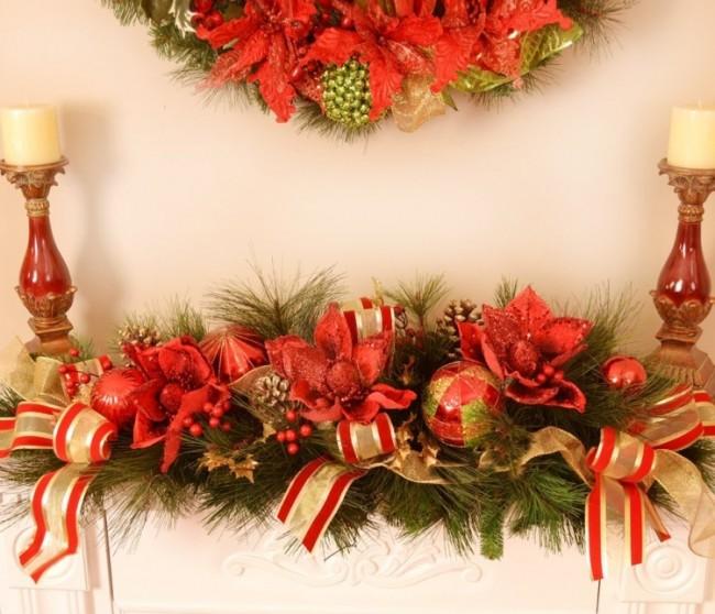 Designer Magnolia Christmas Centerpiece