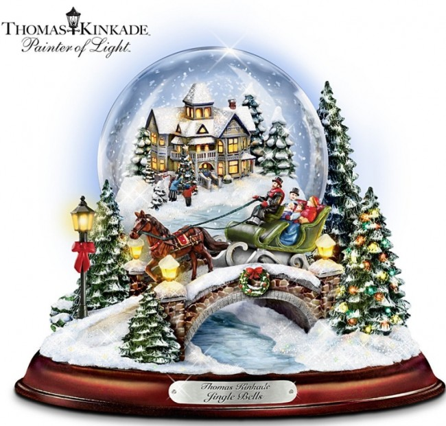 Jingle Bells Illuminated Musical Christmas Snowglobe