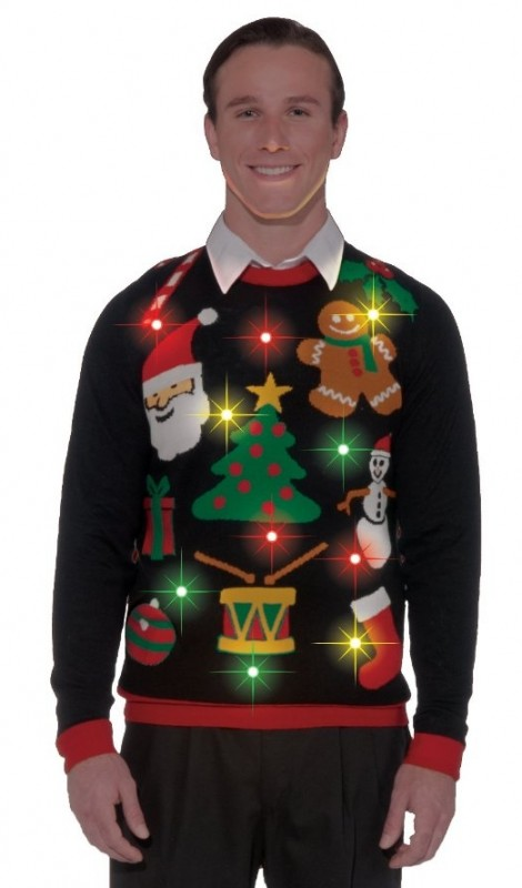 Light Up Ugly Christmas Sweaters