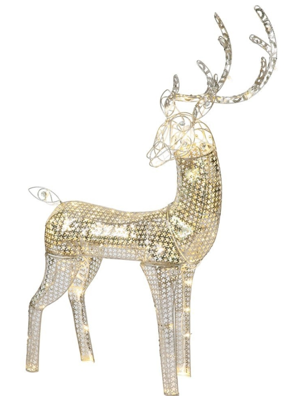 Reindeer LED Lighted Christmas Yard Art Decoration